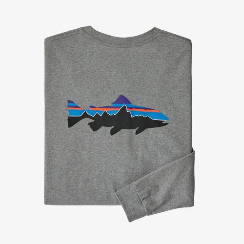 PATAGONIA tričko Long-Sleeved Fitz Roy Trout Responsibili-Tee®
