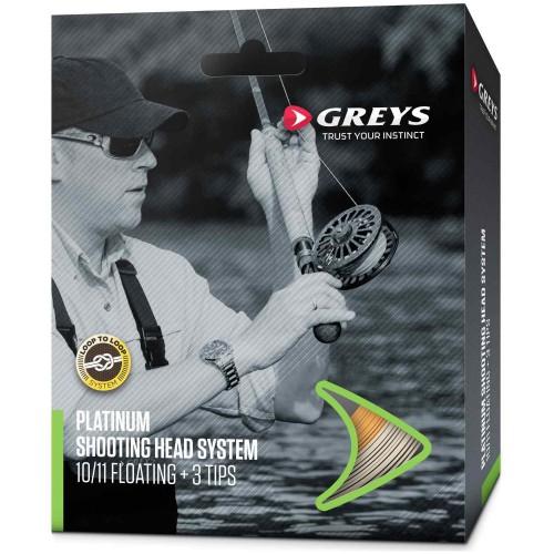 GREYS muškařská šňůra Platinum Shoot Head System Floating