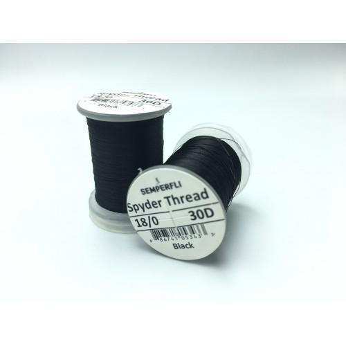 SEMPERFLI vázací nit Black Spyder 18/0 Fly Tying Thread